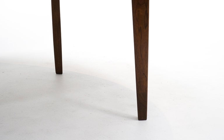 Expandable Dining Table by Edward Wormley for Dunbar, Almost Round to Oval For Sale 2