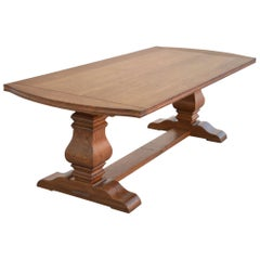Expandable Dining Table Made from Rift Sawn Oak Custom Made By Petersen Antiques