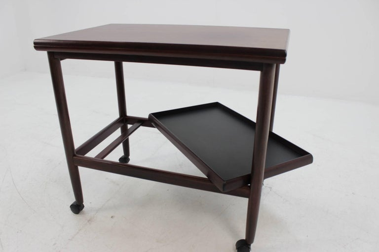 Danish Expandable Mahogany Serving Cart by Børge Mogensen for Fredericia, Denmark For Sale