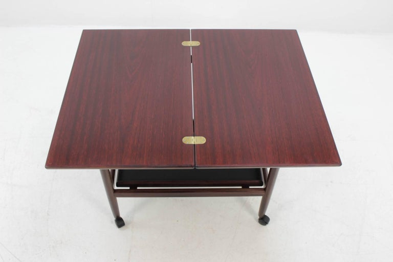 Expandable Mahogany Serving Cart by Børge Mogensen for Fredericia, Denmark For Sale 2