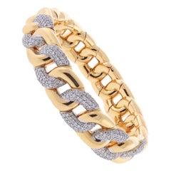 Expandable Pink Gold Diamond Bracelet