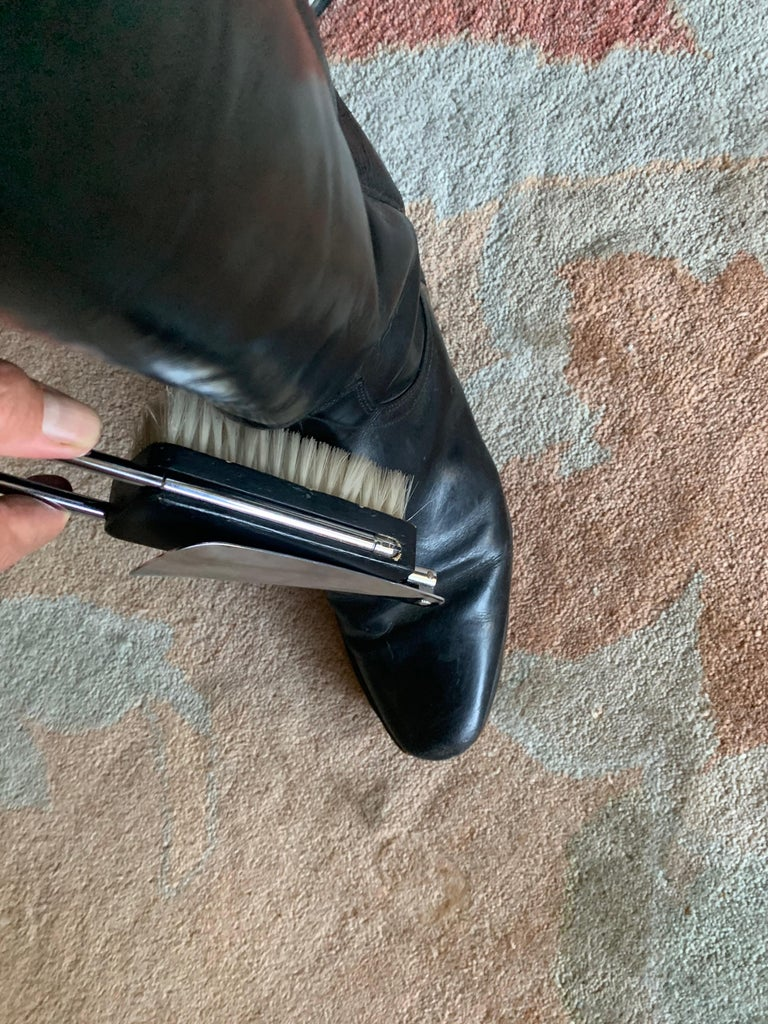 Expandable Suit or Equine Boot Brush and Shoe Horn For Sale 3