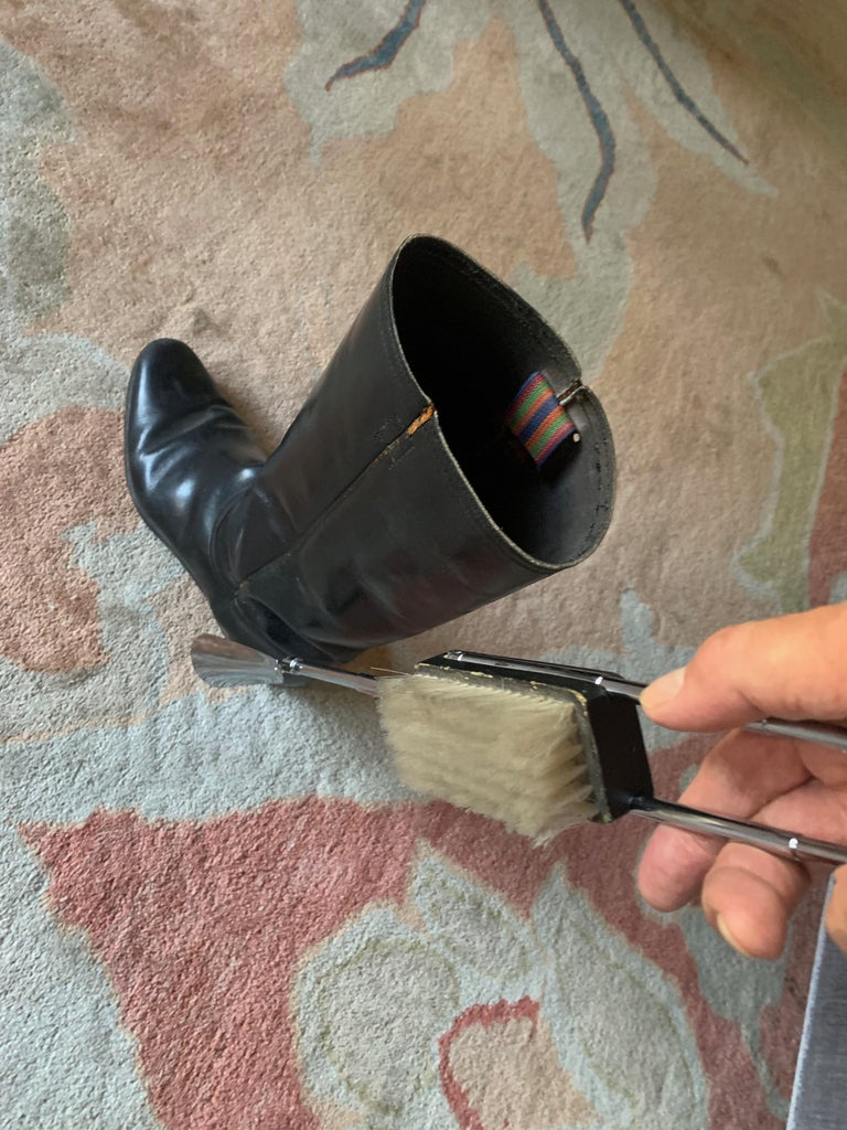 Expandable Suit or Equine Boot Brush and Shoe Horn For Sale 1