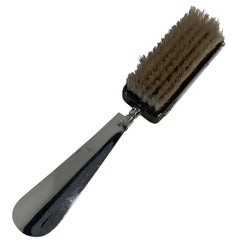 Expandable Suit or Equine Boot Brush and Shoe Horn