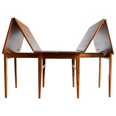 Expandable Teak Dining Table by Erik Worts, Denmark, circa 1960