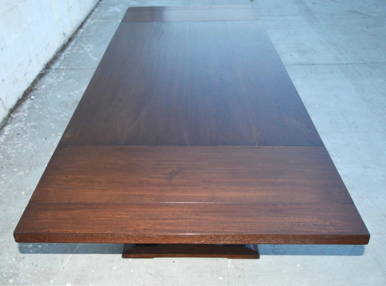 Expandable Walnut Trestle Table, Built to Order by Petersen Antiques  For Sale 3
