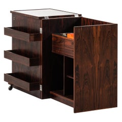 Expanding Captain's Bar in Rosewood Produced by Dyrlund in Denmark