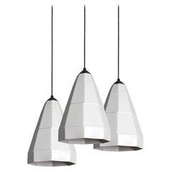 Expansion 1 Contemporary Hanging Pendant Light Cluster Translucent Porcelain