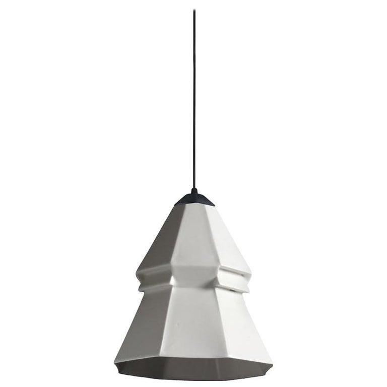 Expansion 3 Contemporary Hanging Pendant Light White Translucent Porcelain For Sale