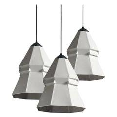 Expansion 3 Contemporary Hanging Pendants Light Cluster Translucent Porcelain