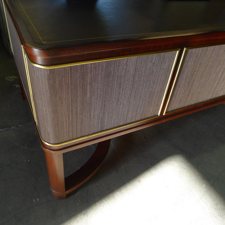 Expansive French Modern Art Deco Executive Desk For Sale 7
