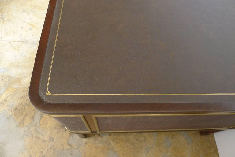 Expansive French Modern Art Deco Executive Desk For Sale 1