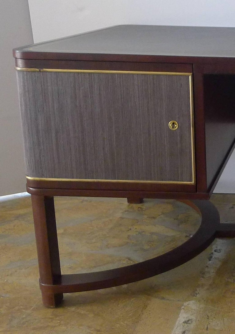 Expansive French Modern Art Deco Executive Desk For Sale 2