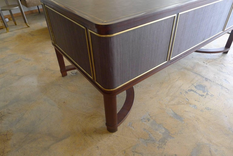 Expansive French Modern Art Deco Executive Desk For Sale 3