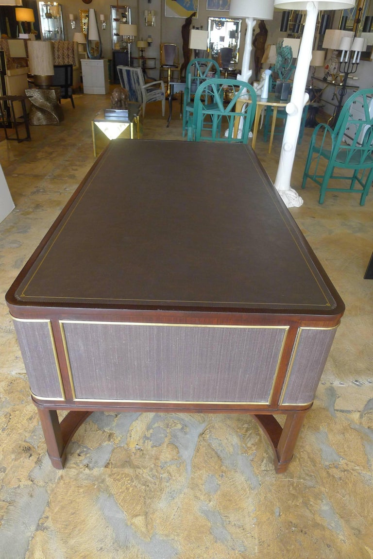 Expansive French Modern Art Deco Executive Desk For Sale 4