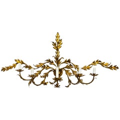 Expansive Gilded Leaves Sconce