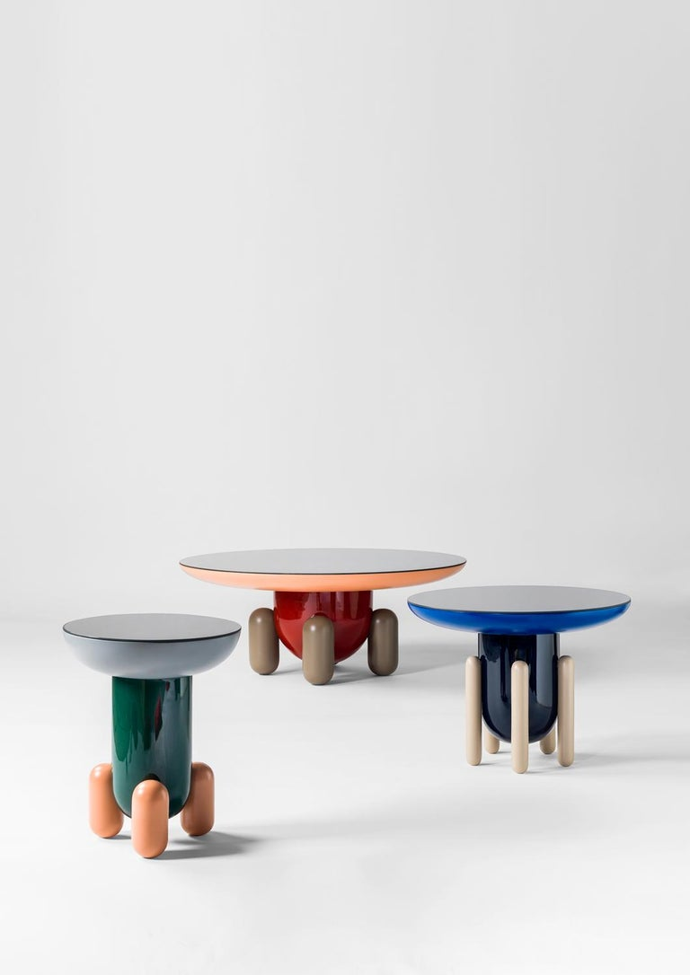 Lacquered Explorer Table 3, Multi-Color Red For Sale