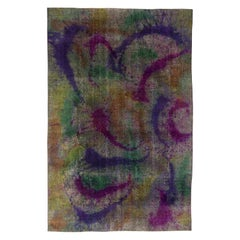 Explosion of Colors 21st Century Abstract Handmade Wool Rug