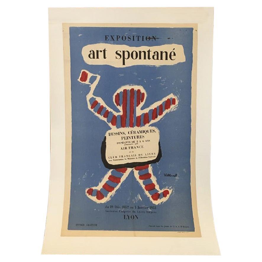 Exposition Art Spontané by Villemot Original Vintage Poster