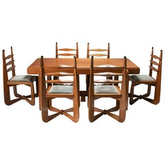 Expressionist Modern Oak Dining Room Set