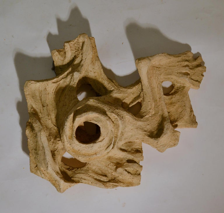 Expressionist Expressive Dutch Figurative Wall Relief Sculpture in Ceramic by Pijman, 1970 For Sale