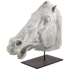 Expressive Model of a Stucco Horse Head