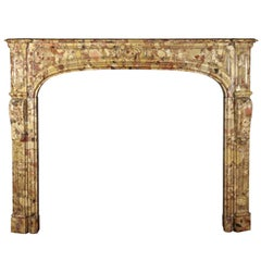 Exquisite Small 18th Century Original French Antique Marble Fireplace Surround
