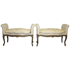 Exquisite 18th Century Pair of French Benches