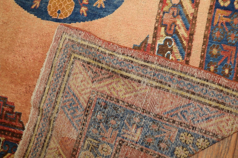 Exquisite 19th Century Antique East Turkestan Khotan Rug In Good Condition For Sale In New York, NY