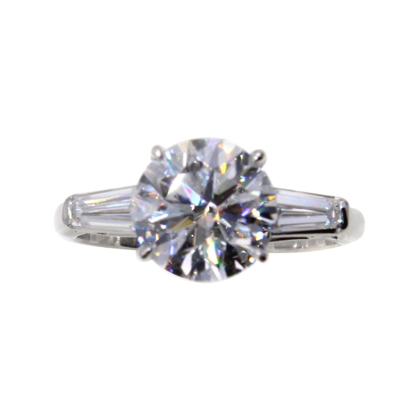 2.56 Carat D IF GIA Certified Diamond Platinum Engagement Ring