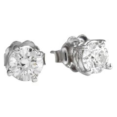 Exquisite .70 Carat Natural VS2-SI1 Diamond 14K Solid White Gold Stud Earrings