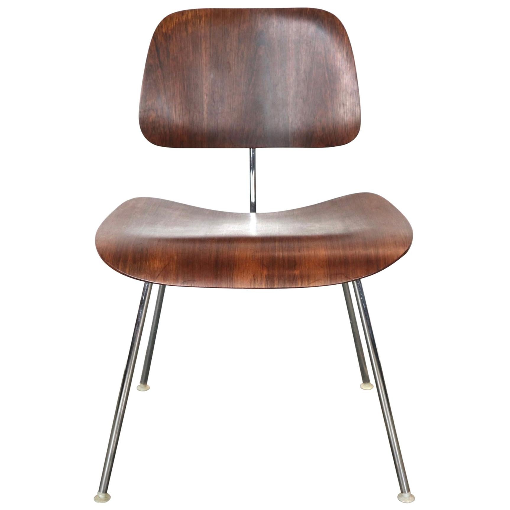 Exquisite and Rare Rosewood Herman Miller Eames DCM Dining Chair