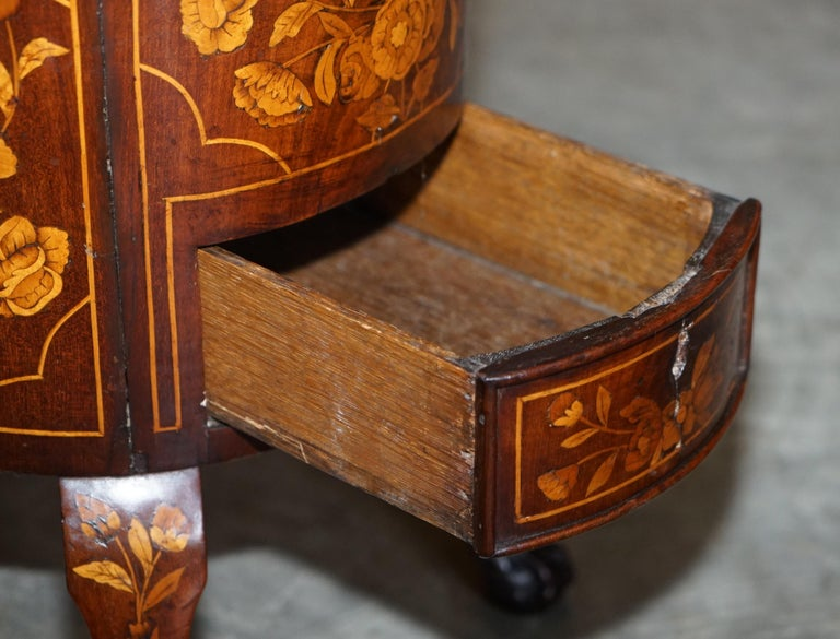 Exquisite Antique circa 1800 Dutch Inlaid Wine Cooler Bucket Claw & Ball Feet For Sale 11
