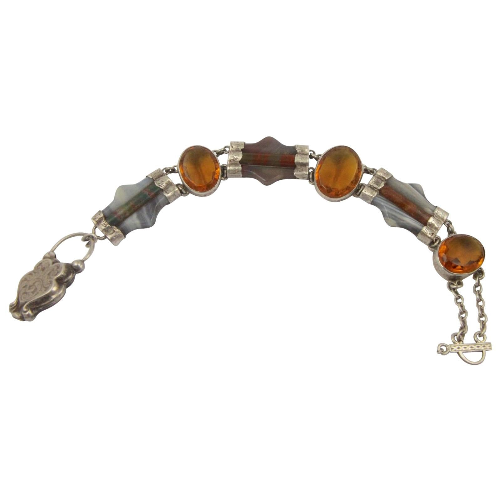 Vintage Silver Scottish  Bracelet Bangle Very Unusual