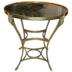 Exquisite Bronze Gueridon Table