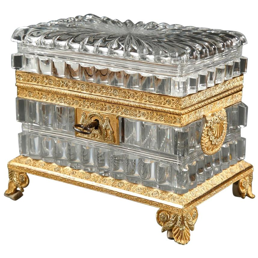 Exquisite Charles X Cut-Crystal Casket