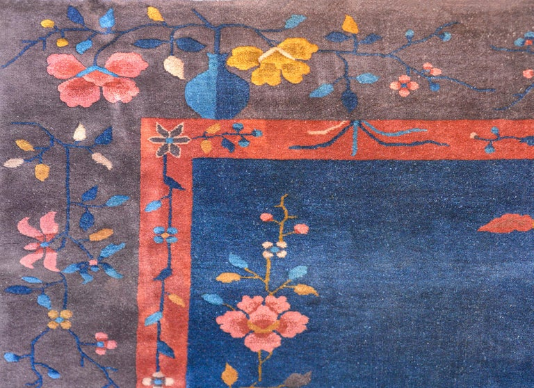 Early 20th Century Exquisite Chinese Art Deco Rug For Sale