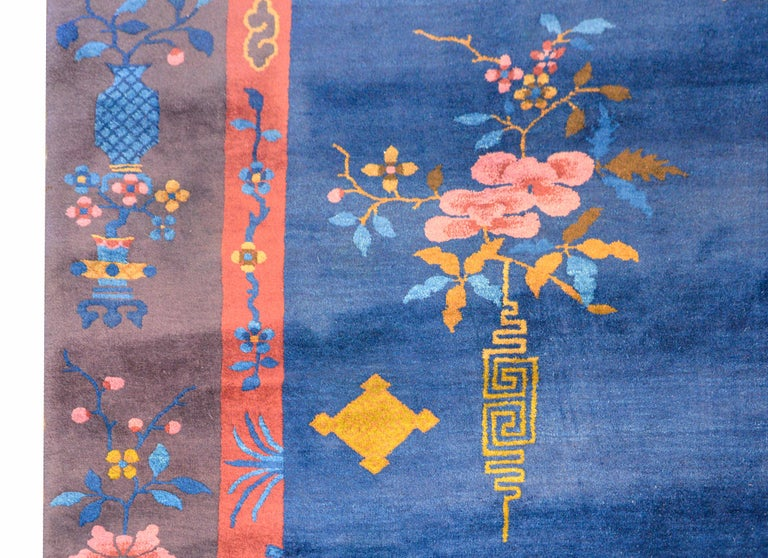 Wool Exquisite Chinese Art Deco Rug For Sale