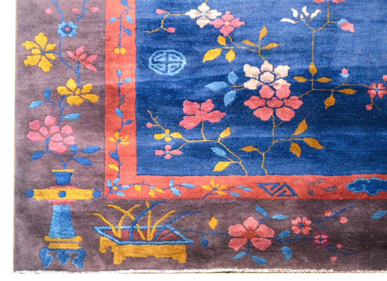 Exquisite Chinese Art Deco Rug For Sale 3