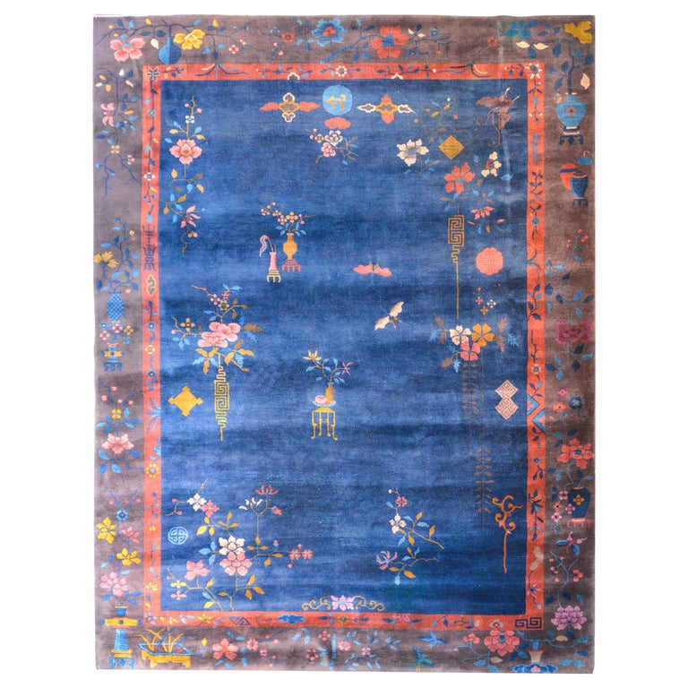 Exquisite Chinese Art Deco Rug For Sale
