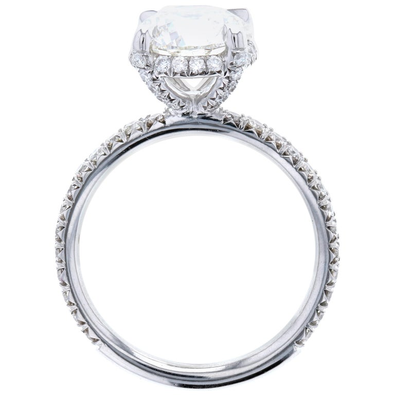 Engagement Rings On Sale Newcastle: Exquisite Diamond Engagement Ring With Hidden Halo And