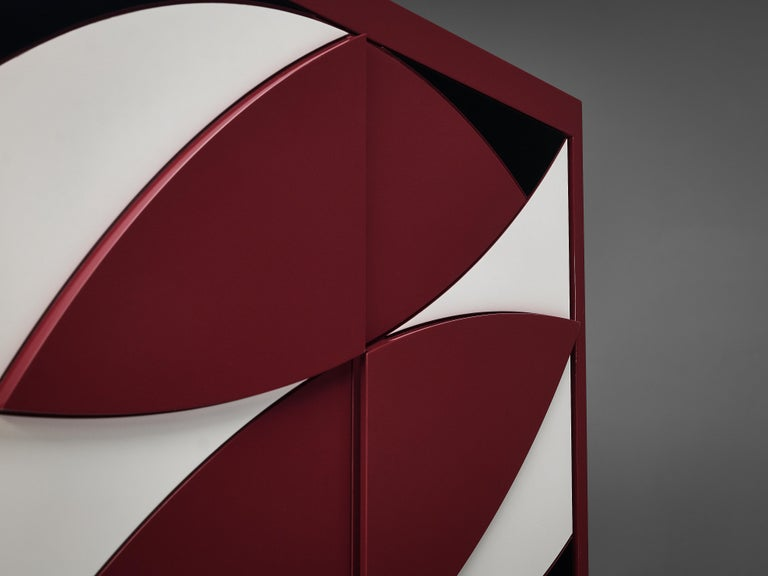 Exquisite Emiel Veranneman for DeCoene Decor 'Stereo' Sideboard in Magenta For Sale 3