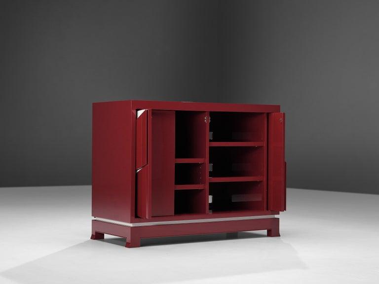 Exquisite Emiel Veranneman for DeCoene Decor 'Stereo' Sideboard in Magenta For Sale 4