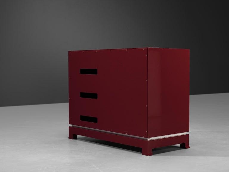 Exquisite Emiel Veranneman for DeCoene Decor 'Stereo' Sideboard in Magenta For Sale 6
