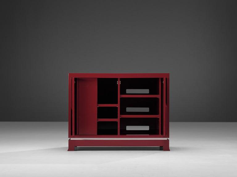 Late 20th Century Exquisite Emiel Veranneman for DeCoene Decor 'Stereo' Sideboard in Magenta For Sale