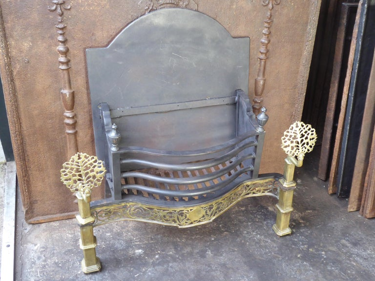 Exquisite English Art Nouveau Fireplace Grate, Fire Grate For Sale 13