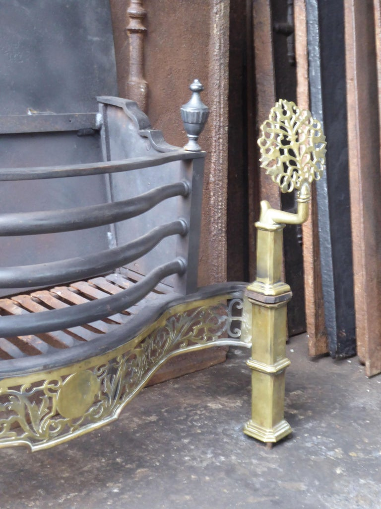 Exquisite English Art Nouveau Fireplace Grate, Fire Grate For Sale 2