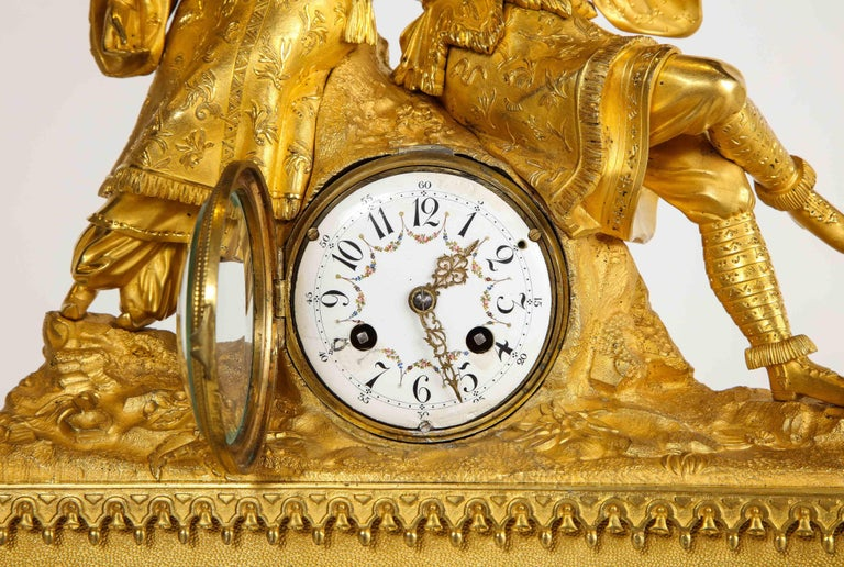Exquisite French Charles X Ormolu Chinoiserie Figural Table Clock For Sale 6