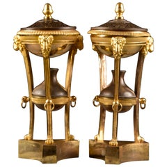 Exquisite French Empire Ormolu Brons Incense / Parfums Burner, 1820
