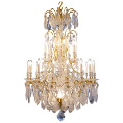 Exquisite French Rock Crystal Chandeliers